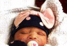 Jose Chameleon and wife Daniella flaunt newly born baby, Xara.