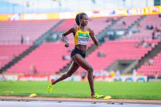 Uganda's Peruth Chemutai wins silver in 2018 IAAF competitions