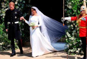UNITED KINGDOM: Meghan's wedding dress on exhibit at Windsor Castle Event