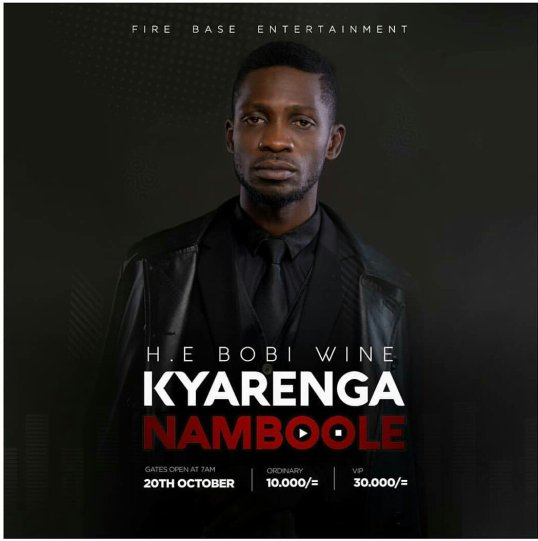 Police finally okays Bobi Wine's Kyarenga concert