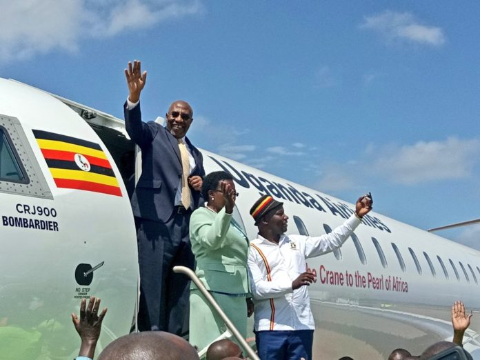 Uganda Airlines at Jomo Kenyatta International Airport